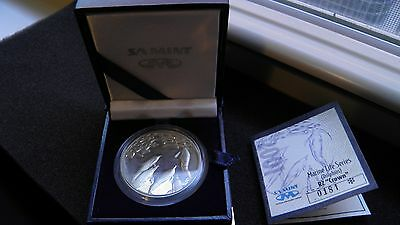 2001 South Africa 2 Rand Dolphins Silver Coin w/ OGP & CoA