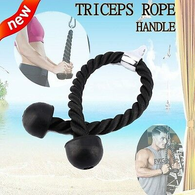 Tricep Rope Multi Gym Cable Attachment Lat Pull Down Press Bar Dip Station Hot