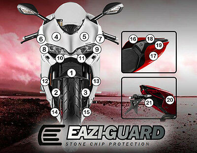 Eazi-Guard™ Ducati 1299 Panigale 2015-2017 Motorbike Stone Chip Protection Kit