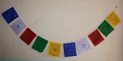 Lot of 50 pcs BUDDHIST WIND FLAG TIBETAN HANGING PRAYER DECORATION COLORFUL F2