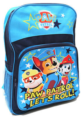 New Large Backpack Blue Bag Paw Patrol Kids Boys Children School Daycare Toys R
