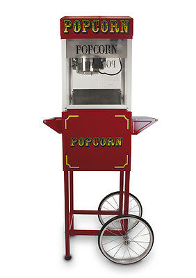 Popcorn Maker and Cart - 4oz Red Professional