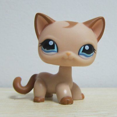 Hasbro Littlest Pet Shop Collection LPS Loose Toys Tan Short Hair Kitty Cat RARE