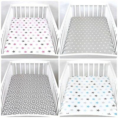 Baby Nursery 100% Cotton Fitted Sheet/fit to Cot 120x60 cm/ Matching Pattern