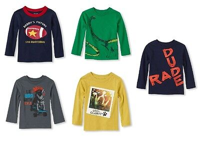 The Childrens Place Infant Toddler Boys T-Shirt Long Sleeve  Various Sz NWT