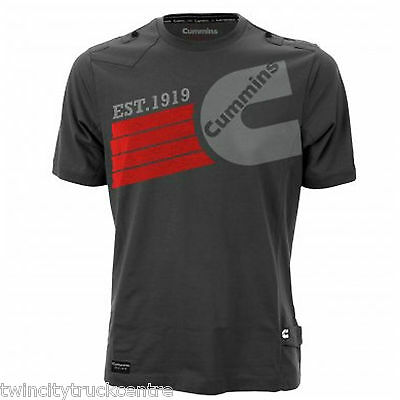 Cummins Mens Charcoal Grey T-Shirt Only Two Sizes Left (Gpi01003 & Gpi01004)