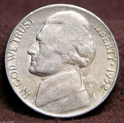 1952 S Jefferson Nickel, Circulated,  Free Ship!