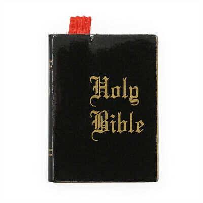 1:12 Dollhouse Holy Bible Black Hardcover Book Miniature Bedroom Church Gift New