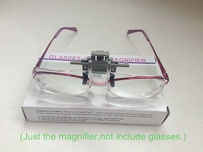 Hände frei 2X Glasses style Lupe Lupe mit Clip für Low Vision Lese
