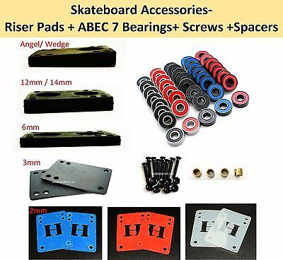 Accessories Skateboard Riser Pads + Skateboard Bearing Abec 7 + Screws + Spacer