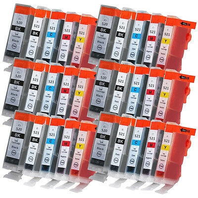 30 Ink Cartridges for Canon Pixma iP3600 iP4700 MP550 MP620 MP640 MP990 MX870