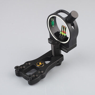 Compound Bow 5 Pin Archery Sight Bow Sight with LED Sight Light Hunting Black