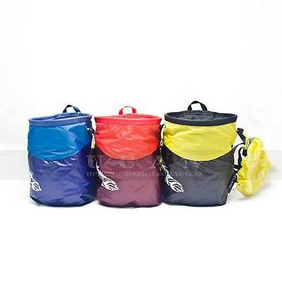 Rock Climbing Chalk Bag Powder Pouch Climber ClimbX Climb Gear Equipment Feather