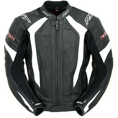 RST R-14 Leather Sports Motorcycle Jacket - White