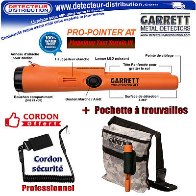 Pinpointer Professionnel Garrett Pro Pointer AT + Holster + Sac à trouvailles