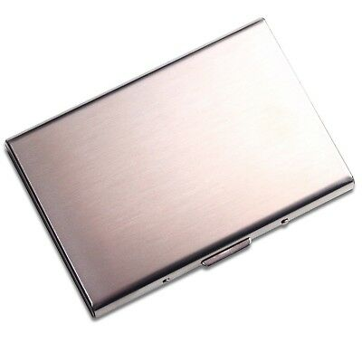 RFID Stainless Steel Wallet Card Holder-Brushed Metal Premium Quality Card Case
