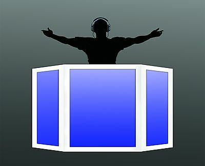 DJ Facade/ Booth NAGA 3 PANEL (White) by Dragon frontboards