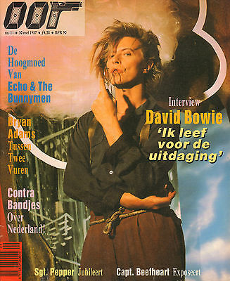 MAGAZINE OOR 1987 nr. 11 - DAVID BOWIE/BEATLES/MISSION/ECHO & THE BUNNYMEN