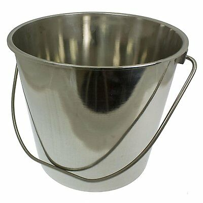 Stainless Steel Metal Bucket 12 Litres Food Catering Kitchen Chef 12 L TH182