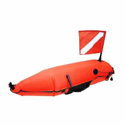 Scuba Spearfishing 420D Nylon Torpedo Buoy Float w/ Oral Inflator & Dive Flag