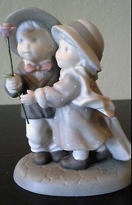 """""""Pretty as a Picture"""" BLOOMING WITH LOVE ~ ENEsCO~ ADORABLE Boy & Girl with Rose"""