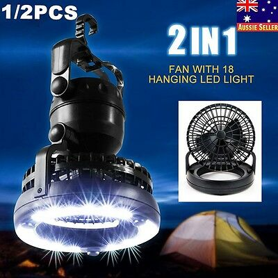 New 2-in-1 18 LED Camping Fan Light Combo Flashlight and Ceiling Fan for Outdoor