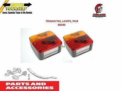 2 X 86040 Trojan Conventional Light 12V Stop Tail & Brake Trailer Square Cheap