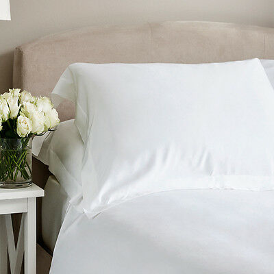 Bamboo Bed Linen - Luxury 100% Bamboo Plain White Oxford Pillowcases (Set of 2)