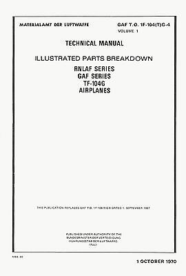 Lockheed Tf-104G Starfighter - Illustrated Parts Breakdown - Gaf To 1F-104(T)G-4