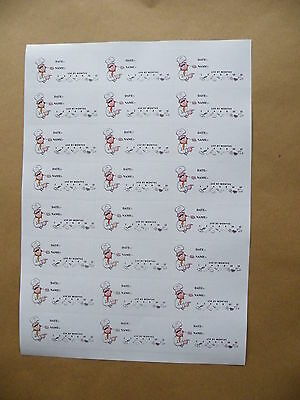 72 High Adhesion Attractive Freezer labels with use by symbols  70x35mm