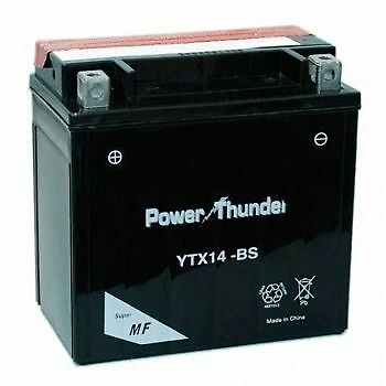 Bateria moto Power Thunder YTX14-BS 12v 12ah (BTX14-BS -  PTX14-BS)