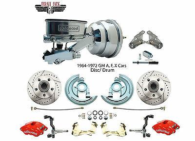 1964-72 GM A, F, X Body High Performance Wilwood / Chrome Booster Conversion Kit