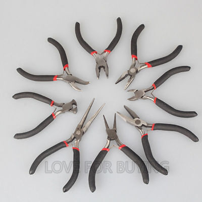 Toothless Toothed Bent Nose Pliers etc Plier for Jewelry Making Tool P0209