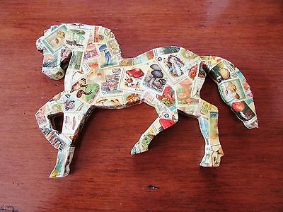 Mush-tang Mushroom Stamp Decoupage Wooden Horse Wall Plaque