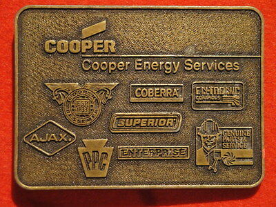 Cooper Energy Services Brass Belt Buckle Excellent! Free Shipping!!
