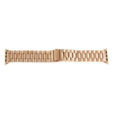 Rose Gold Steel Watchband Strap Connection Adapter for 42mm Apple Watch iWatch