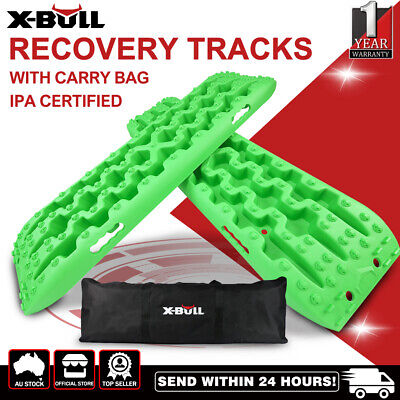 X-BULL 4WD Recovery Tracks Sand Track 2pc 5T Sand/Snow/Mud Trax With Carry Bag