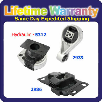 For 2005-2007 Ford Focus 2.0L Engine Motor & Trans Mount Set Auto 5312 2939 2986