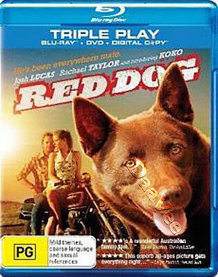 Red Dog NEW Kids Blu-Ray Disc Kriv Stenders Josh Lucas Rachael Taylor Australia