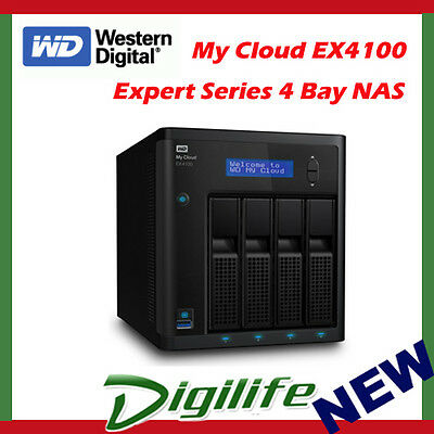WD Western Digital My Cloud EX4100 24TB 4-Bay NAS Storage Expert Series