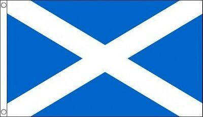 Flag St Andrews Cross Scotland Scottish  5Ft X 3Ft