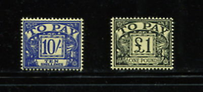 Great Britian  1963  #J66-7  postage dues - high values -  2v. MNH  G083