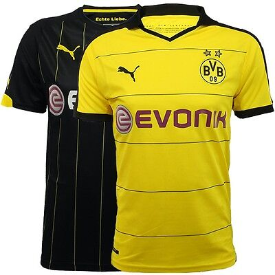 Puma BVB Borussia Dortmund 2016 Trikot Jersey Home/Away yellow black NEW