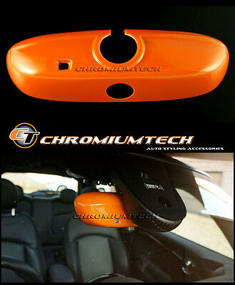 MK3 MINI Cooper/S/ONE F54 F55 F56 F57 F60 ORANGE Rear View Mirror Cover Auto Dim