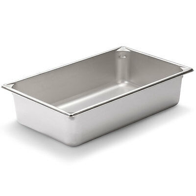 Full Size 4 inch Deep Stainless Steel Steam Table Pan - Anti Jamming - 24 gauge