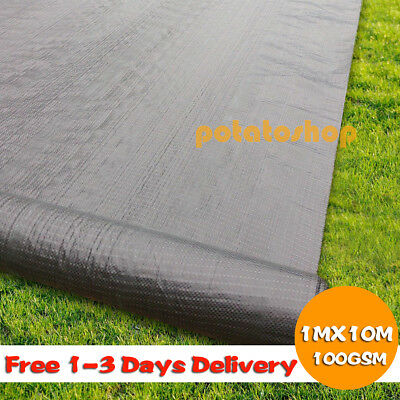 1M X 10M Weed Control Fabric 100 GSM Ground Cover Membrane Garden Landscape