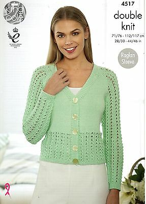 KINGCOLE 4517 DK KNITTING PATTERN  28-46 INCH -not the finished garments