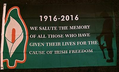 Irish Freedom 1916 2016 Lily 100th Easter Rising Flag Ireland REPUBLICAN irb