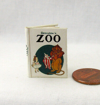 THE ZOO Miniature Book Dollhouse 1:12 Scale Book Readable Illustrated Animals
