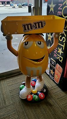 ☆ RARE Yellow M&M's Store Display ☆ 《ALMOST 4' TALL》